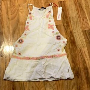 Gypsy 05 Embroidered Cami with Gathered Waist